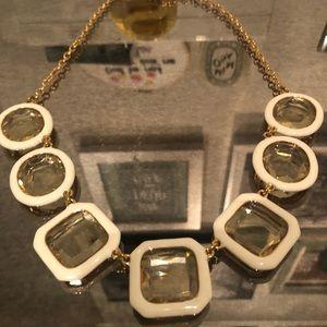 {kate spade clear jewel necklace}